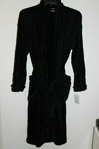 NEW Men's Croft & Barrow Extra Soft Plush Robe in Black