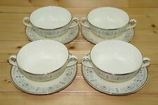"Minton Beaumaris (4) Cream Soup Bowls, 4 3/8"" & (4) Cream Soup Saucers, 5 3/4"""