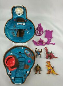 TMNT Mini Mutants Bebop Cave Playset Almost Complete Dino Don Trippy T-Rex Bront