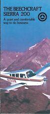 Aircraft Brochure - Beechcraft - Sierra 200 - 1974/78 2 items - N2501L (B574)