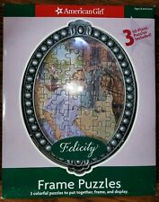 American Girl Frame Puzzles Felicity Three 50-Piece Puzzles!