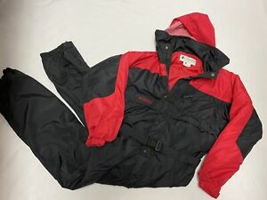 COLUMBIA Men's Size XXL-Tall Black/Red Ski Snow Board Suit Insulated Hooded