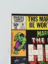 Marvel Superheroes Featuring the Incredible Hulk #91