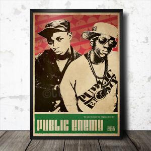 Public Enemy Hip Hop Art Poster Rap Music Ice Cube Eric B & Rakim