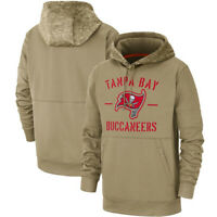 Tampa Bay Buccaneers Football Hoodie 2019 Salute to Service Sideline Pullover