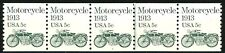 Motorcycle 1913 Transportation Coil MNH PNC5 Plate 1 Scott's 1899