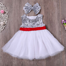 Sequin Tutu Bridesmaid Flower Girl Wedding Birthday Holiday Party Dress