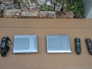 2 AT&T Cable TV Boxes  U-verse Cisco IPN330HD W/ 2 Remotes 1 Power Cord