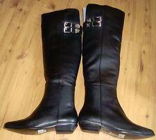 """SCHUTZ WOMEN'S BLACK BOOTS NEW 6B 1"""" HEEL"""