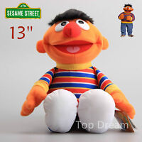 OFFICIAL Sesame Street Ernie Plush Toy Soft Stuffed Doll 13'' Teddy Kids Gift