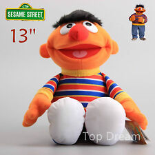 OFFICIAL Sesame Street Ernie Beanie Plush Toy Soft Stuffed Doll 13'' Teddy Gift