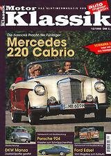 Motor Klassik 12/98 Mercedes Ponton 220 S Cabrio W180 II/Porsche 924/Edsel/1998