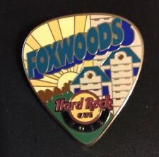 Hard Rock Cafe 2012 Foxwoods Postcard Guitar Pick Casino High-Rise & Sun Pin