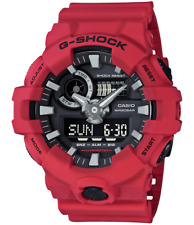 New Casio G-Shock GA700-4A Super Illuminator Ana-Digital 3D Red Men's Watch