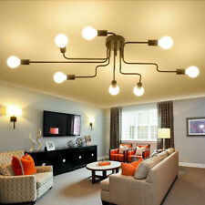 8 Way Retro Ceiling Light Modern Vintage Industrial Metal E27 Pendant Lamp