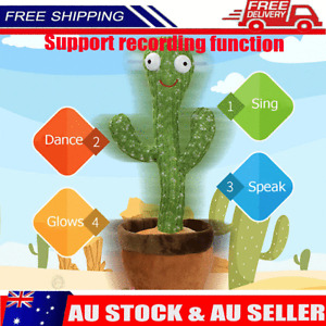Dancing Cactus Plush Toy Doll Electronic Recording Shake With Song Funny Gift AU