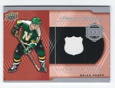 17-18 UD Piece of History 1000 Points Club Jersey Brian Propp  #PC-BP