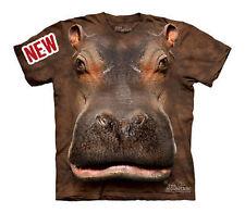 The Mountain Hippo Head Hippopotamus Zoo Life Youth / Child T Shirt Xl