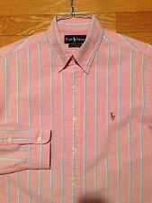 Polo Ralph Lauren Men's Dress Shirt, Custom Fit, Sz 16 - 34/35, EUC, B28CP12