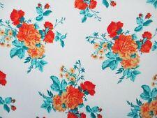2 yards stretch poly spandex lycra fabric beautiful floral print