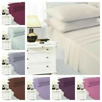 Easy Iron Percale Polycotton Fitted Bed Sheet 100% Poly Cotton Plain Dyed Sheets