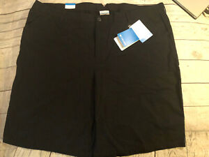 New With Tag Columbia Womens Kenzie Cove Shorts Size 24W Black Easy Fit Comfy