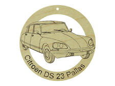 Citroen DS 23 Pallas Natural Maple Hardwood Ornament SandedFinish Laser Engraved