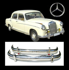 Brand new Mercedes Ponton W105 W180 W128 6 Cyl. Saloon stainless steel bumpers