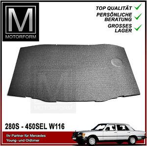 Mercedes W116 Motor Dämmmatte gross Dämmung Insulation 116 hood pad S-Class NEU