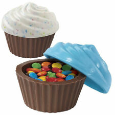 3-D Cupcake Look Container Classic Chocolate Candy Mold from Wilton #0001 - NEW