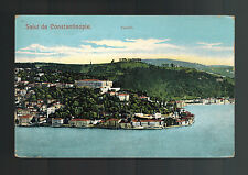 1912 British Post office Constantinople Turkey RPPC Cover to USA Candili View
