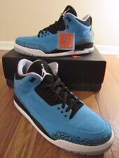 Nike Air Jordan 3 Retro III Size 11.5 Dark Powder Blue White Black 136064 406 DS