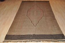 SUMAK Kelim 5' x 7' One of Kind Pastel Muted color Kilim rug from Afghanistan