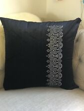 **50%off** 1X Black Sequins Cushion Cover 60cm