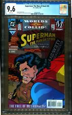SUPERMAN TMOS 35  CGC 9.6 1ST STATIC IN DC CONTINUITY COLLIDE