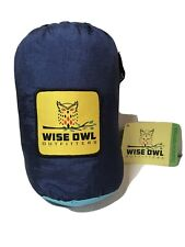 Wise Owl Outfitters Double 2-Person Camping Hammock Navy Blue & Light Blue