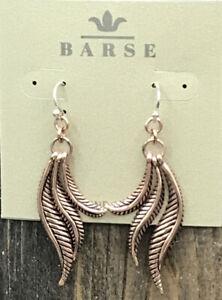 Barse Grandeur Copper Earrings- Copper- SS Ear Wires-NWT