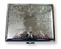 Etched Case for Regular Size and 100's Cigarette, 100 MM NEW ORIGINAL