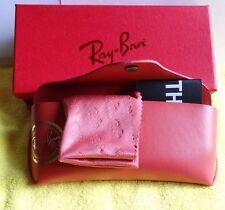 Ray ban Brand new Red case  with cleaning cloth and Gift Box