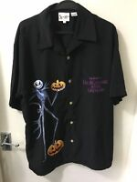 Walt Disney World Tim Burton Nightmare Before Christmas Black Shirt Size Large