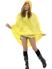 Ladies Teens Yellow Duck Poncho Waterproof Festival Concert Hen Party Costume