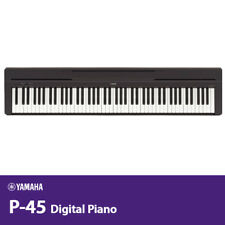 YAMAHA P-45 88-Key Digital Piano GHS PA-150B AC100-240V 50/60Hz Black Free EMS