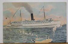 Postcard Str. Governor Cobb. Steam Ship SOME DAMAGE