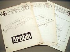 Vintage Arctic Cat 4 Place Trailer, 2 Place Trailer & Trailer Jack Manuals (3)