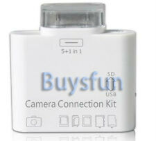 NEW 5 in 1 Camera Connection Kit Card Reader for The New iPad 3 USB SD TF MS MMC