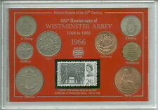 900th Anniversary of Westminster Abbey Church London Coin & Stamp Gift Set 1966