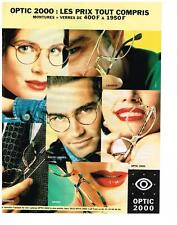 85659bcdab2e41 PUBLICITE ADVERTISING 1989 OPTIC 2000 lunettes