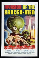 INVASION OF THE SAUCER MEN ✯ SAUCERMEN FLYING SAUCER-MEN MOVIE POSTER ALIEN 1957