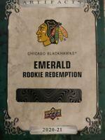 20-21 Upper Deck Artifacts Chicago Blackhawks Emerald Rookie Redemption