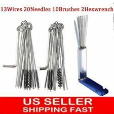 45pcs Carburetor Carb ATV Motorcycle Small Engine Cleaning Brushes Wire Tool Kit